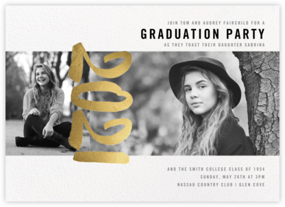 Person of the Year (Multi-Photo Invitation) - Gold - Paperless Post - Online Party Invitations