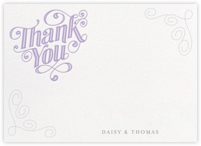 Mercer (Horizontal) - Wisteria - Paperless Post - Wedding thank you cards