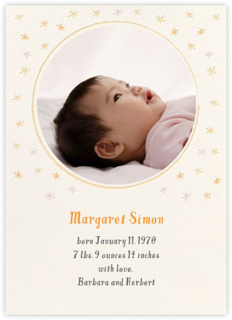 Rising Star - Hello!Lucky - Birth Announcements