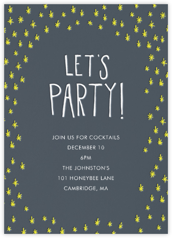 Let's Party - Yellow - Linda and Harriett - Invitations