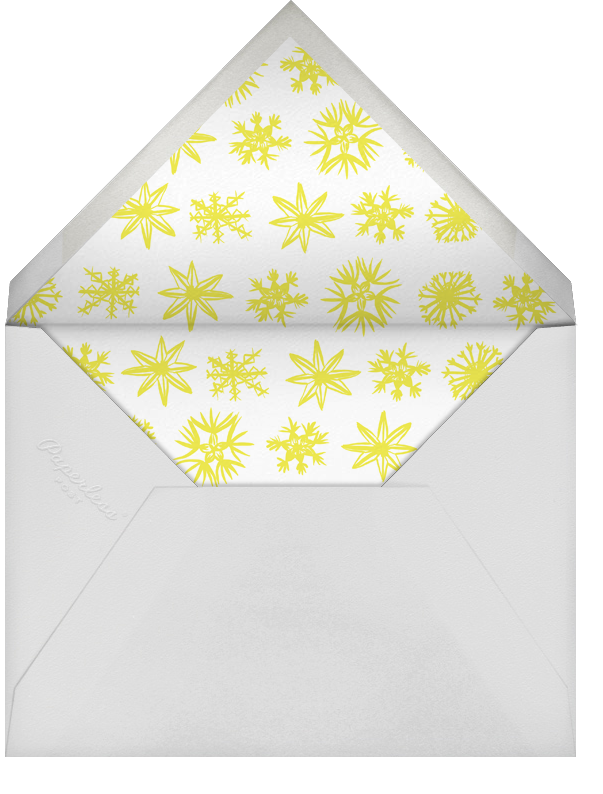 Merry Merry - Snowflakes - Linda and Harriett - Company holiday party - envelope back