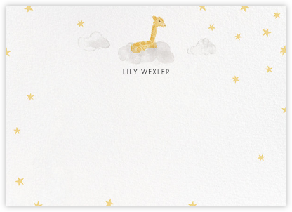 Starry Slumber (Stationery) - Giraffe - Paperless Post - Stationery