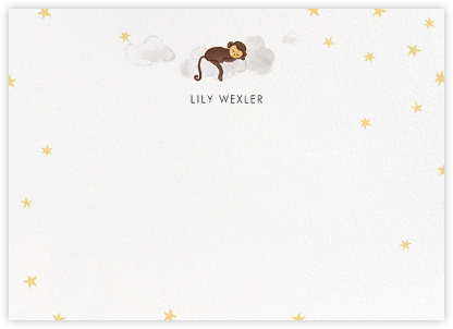 Starry Slumber (Stationery) - Monkey | horizontal