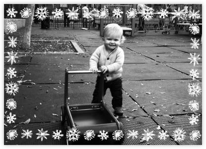 Snowflake - Happy Holidays - Linda and Harriett - Linda & Harriett cards and invitations