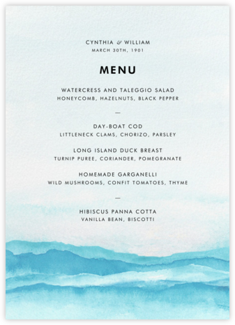 Piedmont (Menu) - Paperless Post - Wedding menus and programs - available in paper