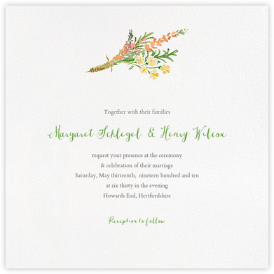 Mountain Flora (Invitation) - Tangelo - Paperless Post -