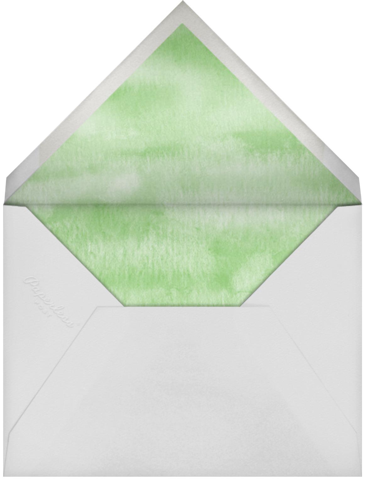 Mountain Flora (Stationery) - Tangelo - Paperless Post - Wedding - envelope back