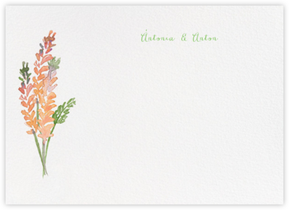 Mountain Flora (Stationery) - Tangelo - Paperless Post - Wedding thank you notes