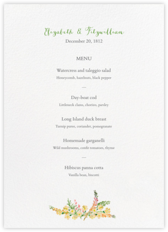 Mountain Flora (Menu) - Tangelo - Paperless Post - Wedding menus and programs - available in paper
