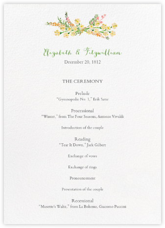 Mountain Flora (Program) - Tangelo - Paperless Post - Wedding menus and programs - available in paper