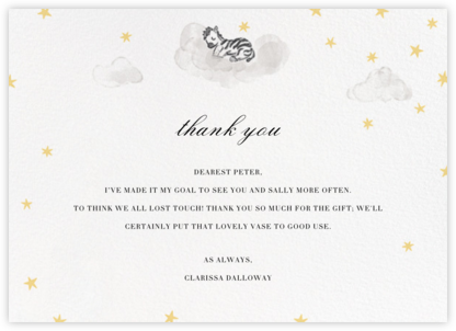 Starry Slumber (Stationery) - Zebra - Paperless Post - Online thank you notes