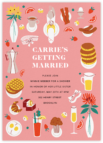 Bridal Buffet - Paperless Post - Bridal shower invitations