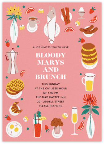 Brunch Buffet - Paperless Post - Brunch invitations