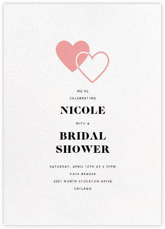 Heart to Heart - Blossom - Paperless Post - Bridal shower invitations