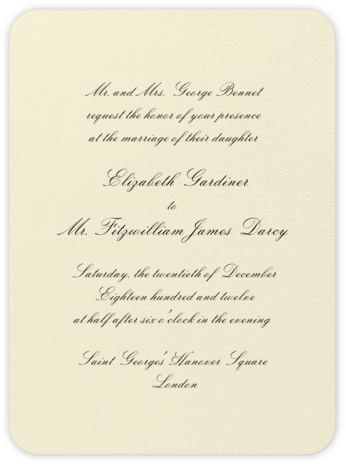 Viceroy - Black - Crane & Co. - Classic wedding invitations