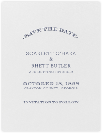 Aperitif (Save The Date) - Navy Blue - Crane & Co. - Classic save the dates
