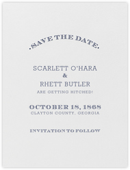 Aperitif (Save The Date) - Navy Blue