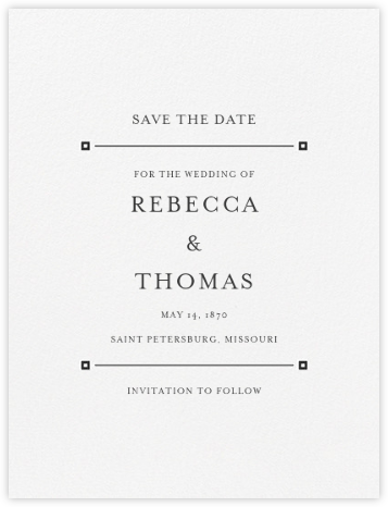 Candela (Save the Date) - Charcoal Gray - Crane & Co. - Crane & Co stationery