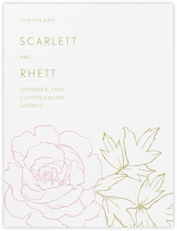 Meet Me in the Menagerie (Save the Date) - Moss Green and Peony  - Crane & Co. -