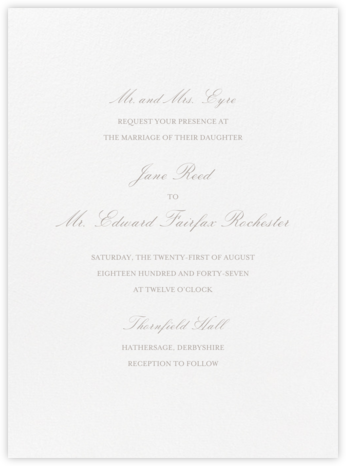 Amboise - Taupe - Crane & Co. - Wedding invitations