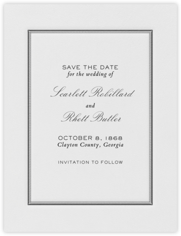 Saranac (Save the Date) - Charcoal Gray - Crane & Co. -