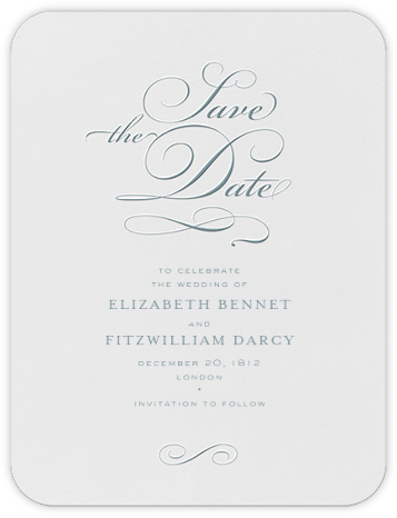 From This Day Forward (Save The Date) - Peacock - Crane & Co. - Save the dates