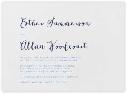 Miller - Newport Blue & Navy - Crane & Co. - Classic wedding invitations
