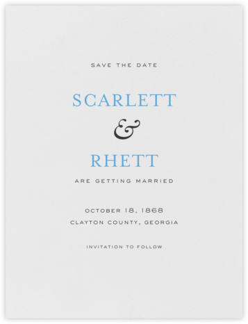 Standish (Save The Date) - Charcoal Gray and Newport Blue - Crane & Co. - Save the dates