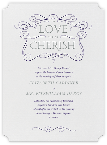 Anjou - Amethyst and Pewter Gray - Crane & Co. - Wedding Invitations