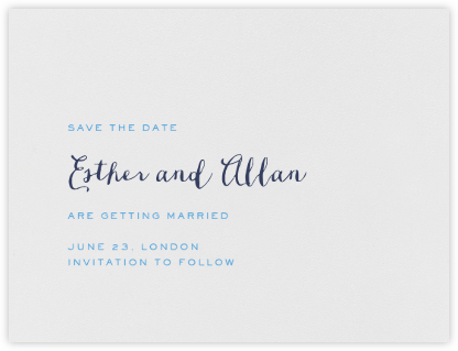 Miller (Save The Date) - Newport Blue & Navy - Crane & Co. - Save the dates