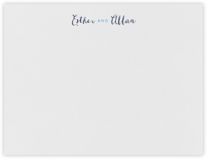 Miller (Thank You) - Newport Blue & Navy - Crane & Co. - Personalized Stationery
