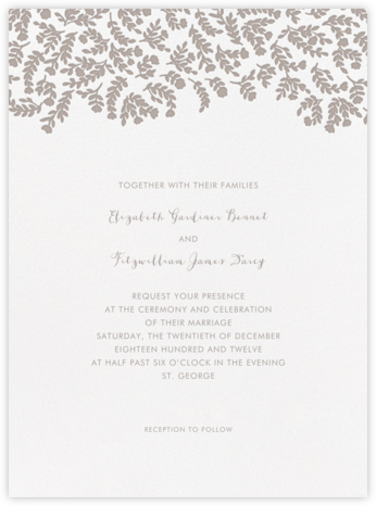 Anthea - Taupe - Crane & Co. - Wedding Invitations