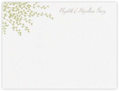 Forsythia (Thank You) - Celery - Crane & Co. - Personalized Stationery