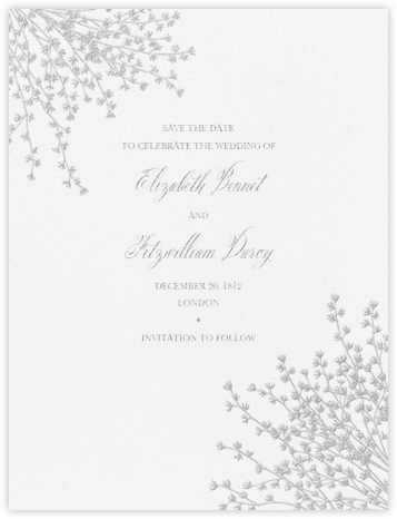 Forsythia (Save The Date) - Platinum - Crane & Co. - Save the dates