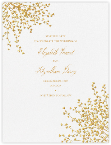 Forsythia (Save The Date) - Medium Gold - Crane & Co. - Gold and metallic save the dates