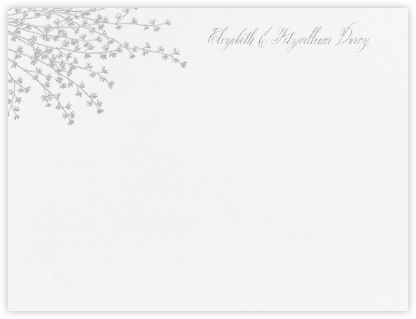 Forsythia (Thank You) - Platinum - Crane & Co. - Personalized Stationery