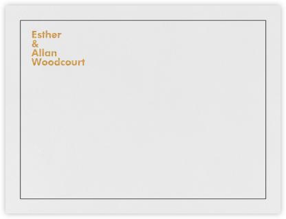 Bauhaus (Thank You) - Medium Gold & Black - Crane & Co. - Personalized Stationery