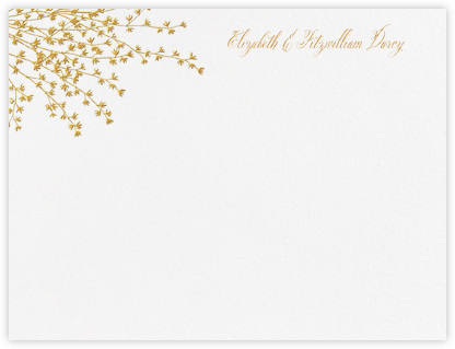 Forsythia (Thank You) - Medium Gold - Crane & Co. - Personalized Stationery