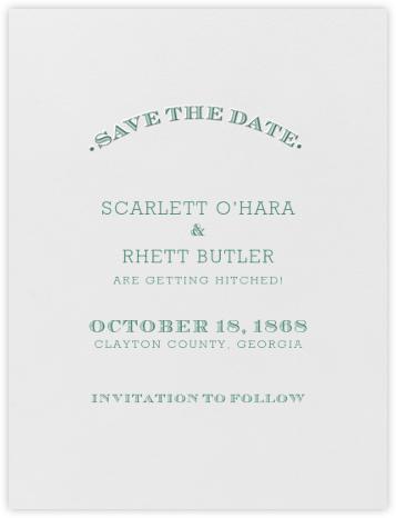 Aperitif (Save The Date) - Hunter Green - Crane & Co. - Save the dates