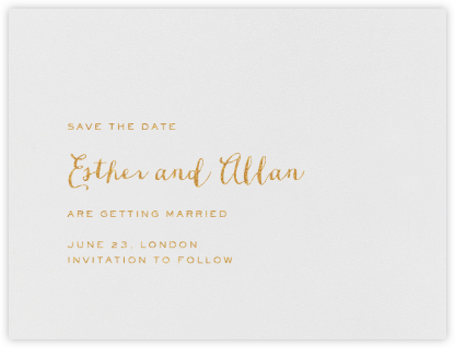Miller (Save The Date) - Medium Gold - Crane & Co. - Save the dates