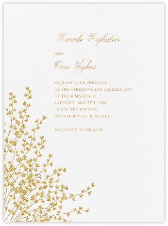 Forsythia - Medium Gold - Crane & Co. - Classic wedding invitations