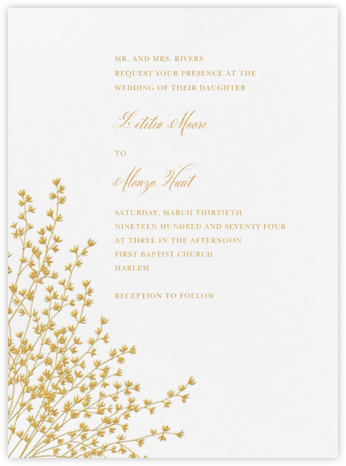 Forsythia - Medium Gold - Crane & Co. - Classic wedding invitations