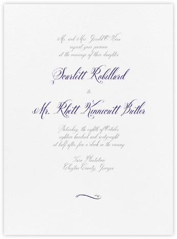 Trasierra - Amethyst and Pewter Gray - Crane & Co. - Wedding Invitations