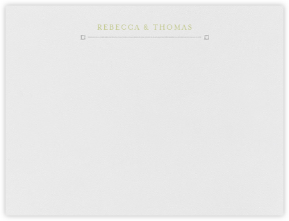 Candela (Thank You) - Platinum and Celery - Crane & Co. - Personalized Stationery