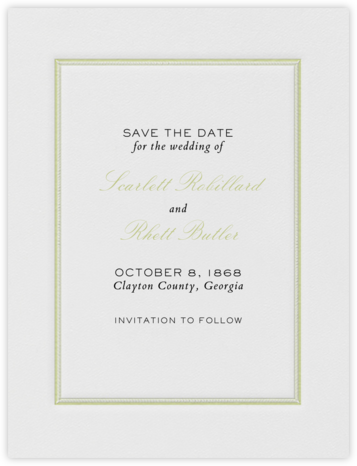 Saranac (Save the Date) - Celery and Black | null