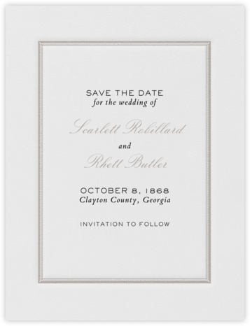 Saranac (Save the Date) - Taupe   null