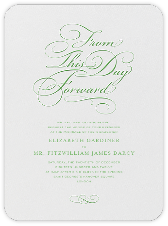 From This Day Forward - Spring Green - Crane & Co. -