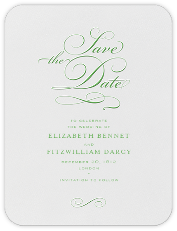 From This Day Forward (Save The Date) - Spring Green - Crane & Co. - Classic save the dates