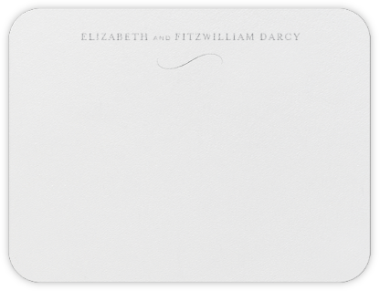 From This Day Forward (Thank You) - Platinum - Crane & Co. - Personalized Stationery