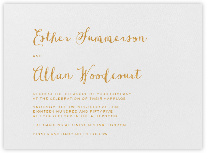 Miller - Medium Gold - Crane & Co. - Wedding Invitations